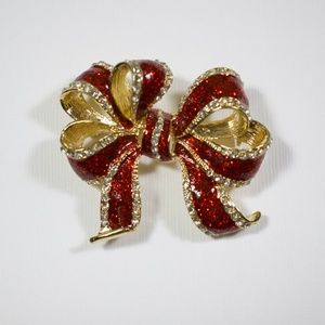 Jewelry - Vintage Holiday Bow Pin